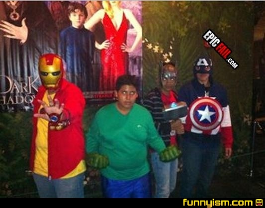 cosplay super-heros ridicules